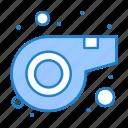 referee, sport, whistle icon
