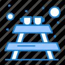 bench, furniture, picnic icon