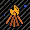 bonfire, fire, flame icon