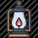 camping, lamp, lantern, outdoor