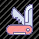 jackknife, knife, penknife, cut, tourist