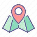 map, travel, direction, location, pointer, navigation