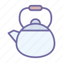 kettle, tea, drink, teapot, kitchen