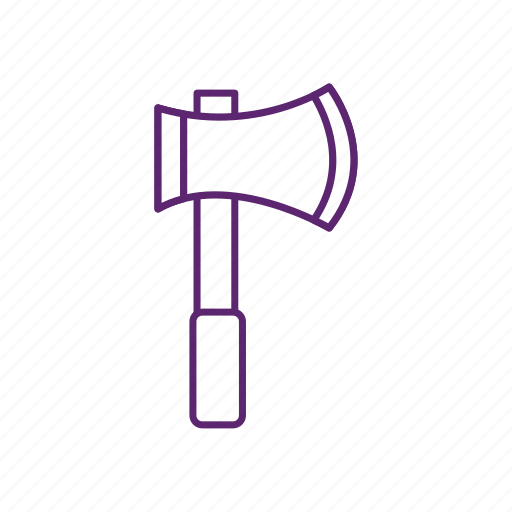 axe, camping, cut, wood icon