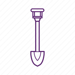 camping, dig, shovel, soil, tool icon