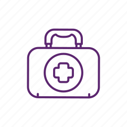 box, camping, emergency, first aid, medical, medicine icon