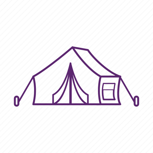 camp, camping, home, stay, tent icon