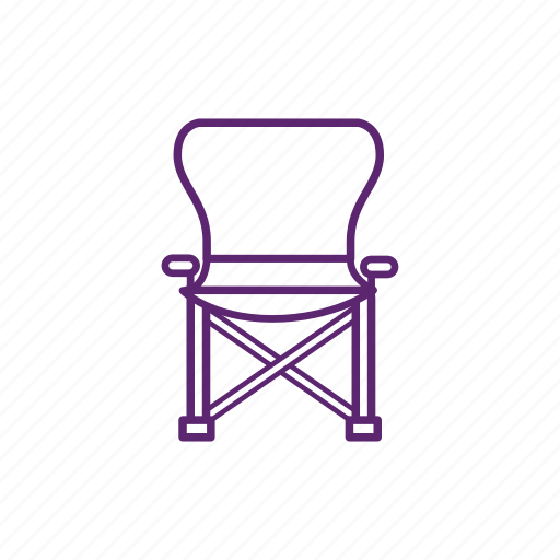 camping, chair, flip, rest icon
