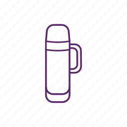 camping, flask, hot, thermo, warm icon