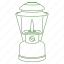 camp, camping, equipment, lantern, light, night, see icon