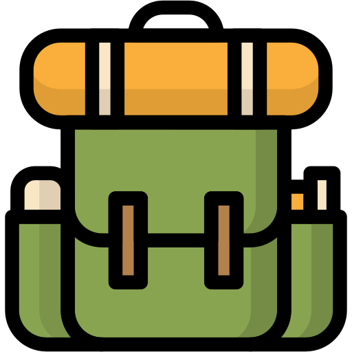 backpack, bag, camping, travel, vacation icon