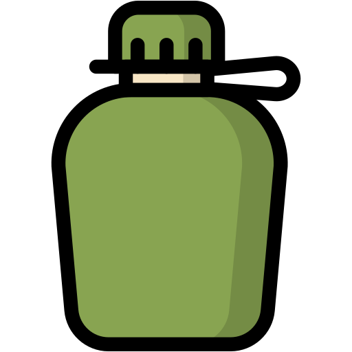 bottle, camp, camping, drink, travel, water icon