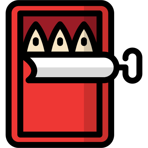 camping, canned, cooking, fish, food, meal icon