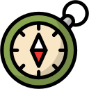 camping, compass, direction, navigation, outdoor, travel icon