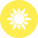 hot, sun, sunny, weather icon