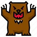 wild, brown, wildlife, animal, bear