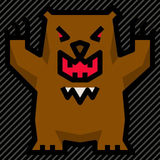 animal, bear, brown, wild, wildlife icon