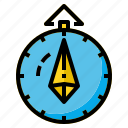 compass, direction, map, north, travel icon