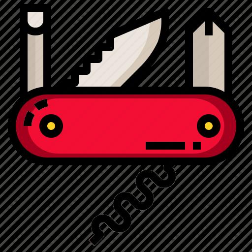 blade, folding, knife, pocket, tool icon