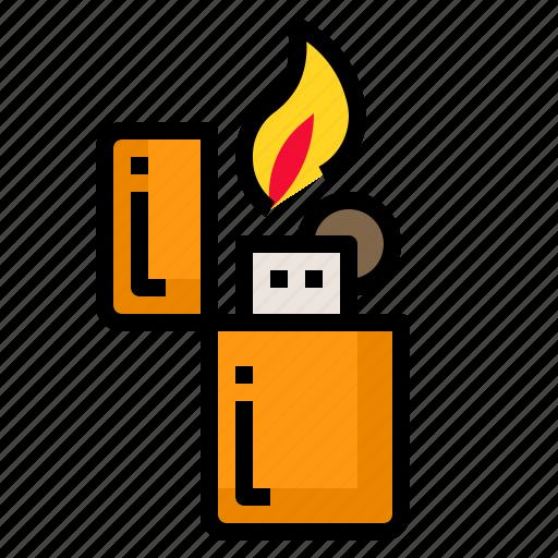 cigarette, fire, light, lighters, smoke icon