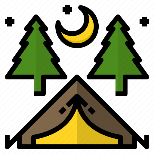 adventure, camp, nature, outdoor, tents icon