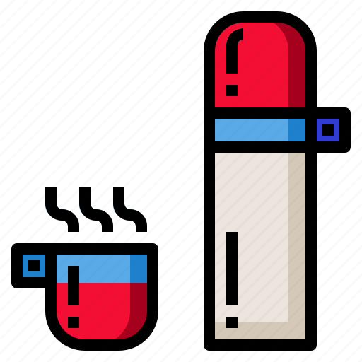 bottle, drink, hot, thermos, vacuum, water icon