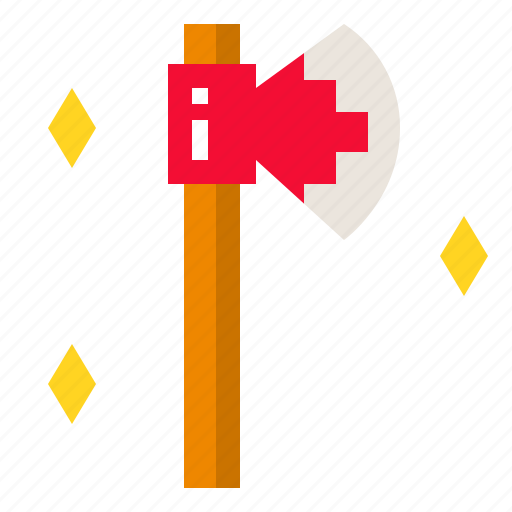 ax, axe, cut, tool, wood icon