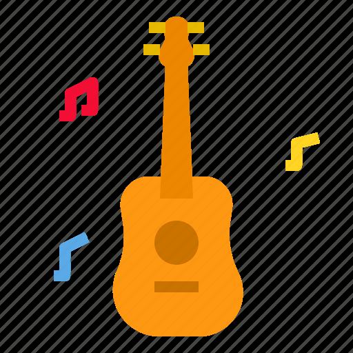 guitar, instrument, music, musical, sound icon