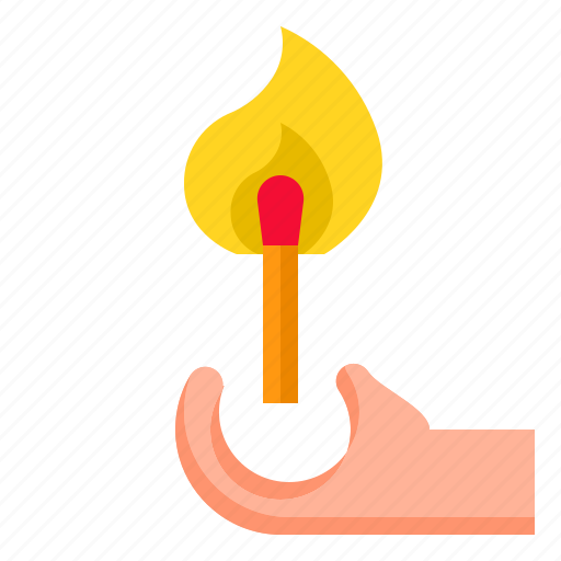 box, fire, light, match, matches icon