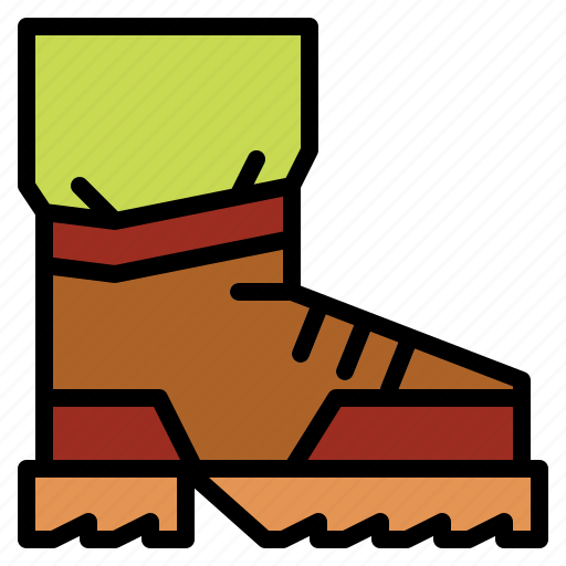 boots, climbing, footwear icon