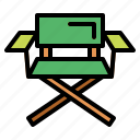 camp, camping, chair icon