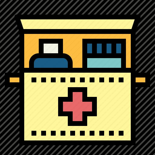 emergency, kit, medical icon