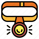 flashlight, head, light icon
