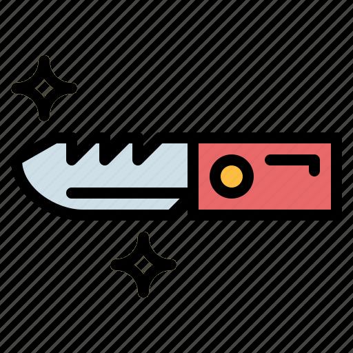 cut, cutting, knife icon