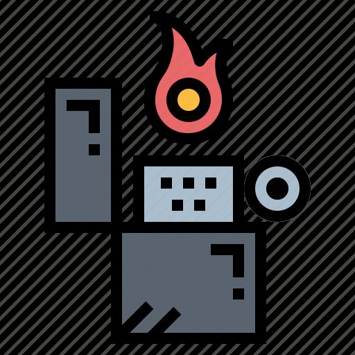 fire, lighter, zippo icon