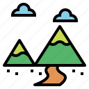 landscape, mountain, travel icon