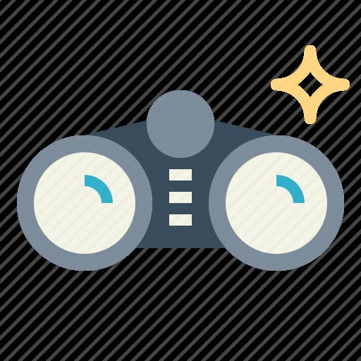 binoculars, goggles, see icon