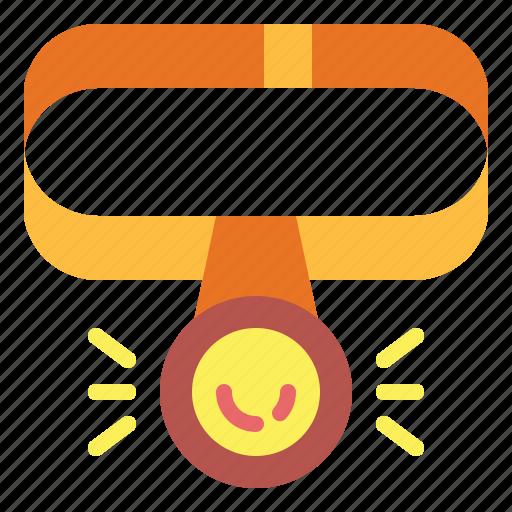 Flashlight, head, light icon - Download on Iconfinder