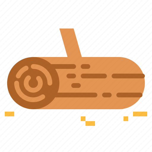 log, wood, wooden icon