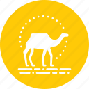 adventure, camel, desert, outdoors, ride, travel, vacation icon