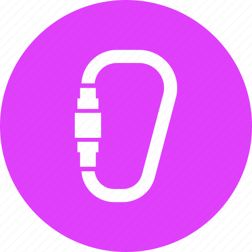 camping, carabiner, climbing, forest, hiking, mountain, outdoors icon