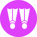 diving, flippers, marine, scuba, sea, swim, swimming icon