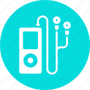 device, earphones, gadget, headphones, ipod, music, smart icon