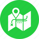 blueprint, location, map, marker, navigation, trail, treasure icon