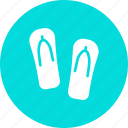 beach, flipflops, footwear, holiday, slippers, summer, vacation icon
