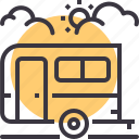 bus, camping, caravan, expedition, tourist, travel, vacation icon