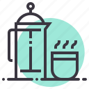 camping, coffee, drink, flask, hot, presser, thermos icon