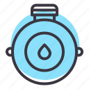 camping, canteen, drink, flask, outdoors, travel, water icon