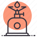 camping, cook, cooking, gas, outdoor, stove icon