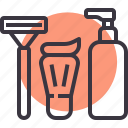 cream, grooming, lotion, razor, shave, shaving, toiletries icon